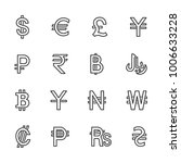 vector image set to currency... | Shutterstock .eps vector #1006633228