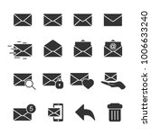 vector image of set of mail... | Shutterstock .eps vector #1006633240