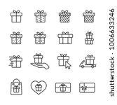 vector image set gift line...   Shutterstock .eps vector #1006633246