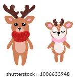cute deer vector | Shutterstock .eps vector #1006633948