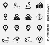 set of location flat vector... | Shutterstock .eps vector #1006636294