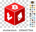 cryptocurrency dice icon with...