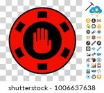 stop gambling hand pictograph...