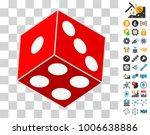 dice cube icon with bonus...
