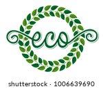 vector illustration of a green... | Shutterstock .eps vector #1006639690