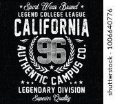 california sport wear brand ... | Shutterstock .eps vector #1006640776