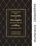 wedding luxury invitation card | Shutterstock .eps vector #1006640944