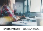 close up of young businesswoman ... | Shutterstock . vector #1006646023