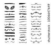 hand drawn borders  brackets ... | Shutterstock .eps vector #1006647649