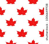 canada seamless pattern. vector ... | Shutterstock .eps vector #1006649938