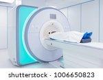 female patient undergoing mri   ... | Shutterstock . vector #1006650823
