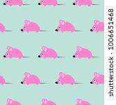 cute kid mice design seamless... | Shutterstock .eps vector #1006651468
