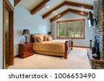 chic master bedroom  vaulted... | Shutterstock . vector #1006653490