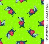 cute doodle tribal seamless... | Shutterstock .eps vector #1006654438