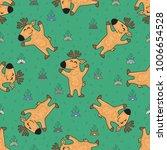 cute doodle tribal seamless... | Shutterstock .eps vector #1006654528