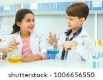little kids learning chemistry... | Shutterstock . vector #1006656550