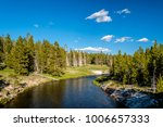 firehole river in yellowstone...   Shutterstock . vector #1006657333