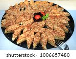 sesame crunchy sticks on a... | Shutterstock . vector #1006657480