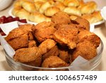 corn bread muffins on a plate | Shutterstock . vector #1006657489