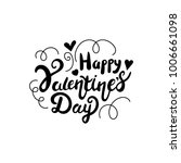 happy valentines day lettering. | Shutterstock . vector #1006661098