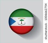 button flag of equatorial... | Shutterstock .eps vector #1006662754
