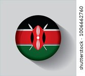 button flag of kenya in a round ... | Shutterstock .eps vector #1006662760