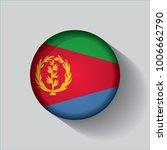 button flag of eritrea in a... | Shutterstock .eps vector #1006662790
