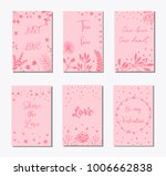 decorative greeting cards for... | Shutterstock .eps vector #1006662838