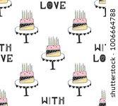 hand drawn nursery birthday... | Shutterstock .eps vector #1006664788