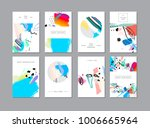 set of creative universal... | Shutterstock .eps vector #1006665964