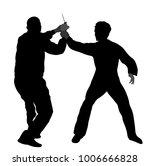 self defense battle vector... | Shutterstock .eps vector #1006666828