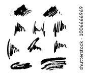 set of hand drawn design... | Shutterstock .eps vector #1006666969