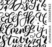 handwritten letters pattern... | Shutterstock .eps vector #1006669663