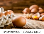 Brown Eggs In Carton Box....