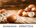 Brown Eggs In Carton Box....