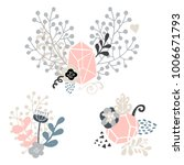 floral heart concept wreaths... | Shutterstock .eps vector #1006671793