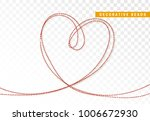 heart beads realistic isolated. ... | Shutterstock .eps vector #1006672930