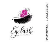 eyelash extension logo. makeup... | Shutterstock .eps vector #1006678108