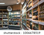 blurred image of shelves with... | Shutterstock . vector #1006678519