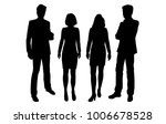 vector silhouettes of men and... | Shutterstock .eps vector #1006678528