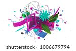 modern design trendy 3d... | Shutterstock . vector #1006679794