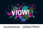 wonderful 3d composition with... | Shutterstock . vector #1006679824