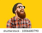 portrait of young hipster man... | Shutterstock . vector #1006680790