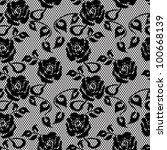 black lace seamless pattern on... | Shutterstock .eps vector #100668139