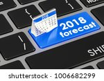2018 forecast concept on the...   Shutterstock . vector #1006682299