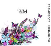floral colorful abstraction.... | Shutterstock .eps vector #1006684933