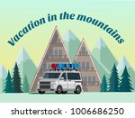 vacation in the mountains.... | Shutterstock .eps vector #1006686250