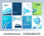 set of brochure  annual report  ... | Shutterstock .eps vector #1006686433