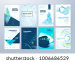 set of brochure  annual report  ... | Shutterstock .eps vector #1006686529