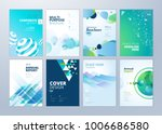 set of brochure  annual report  ... | Shutterstock .eps vector #1006686580